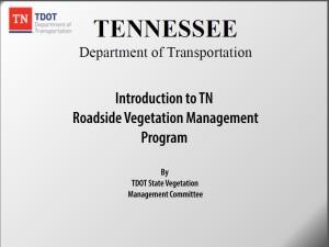 Tennessee Roadside Vegetation Management