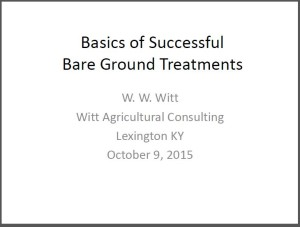 Basics of Successful Bare Grounds Treatment